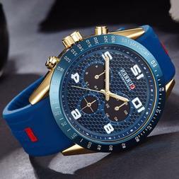 Curren Luxury Watch Men's Sports Military Army Fashion Quart
