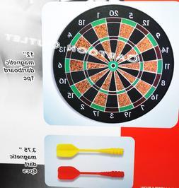 Magnetic DART Board Safe Dartboard Game Includes 6 Darts New