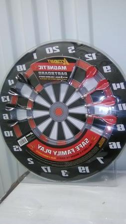 Accudart Magnetic DARTBOARD with 6 Dual Colored Darts
