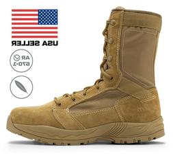 Maelstrom Mil Lite Men's 9'' Coyote Brown Military Boot AR 6