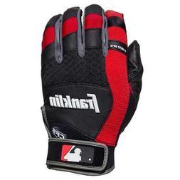 Franklin Sports MLB X-Vent Pro Batting Gloves - Black/Red