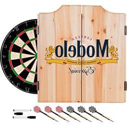 Trademark Gameroom Modelo Dart Board Set with Cabinet