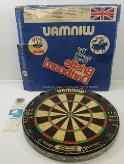 N) Vintage Winmau Official British Darts Organisation Bristl