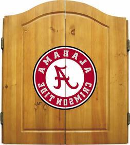 NCAA Solid Pine Cabinet & bristle dartboard Set - Alabama, L