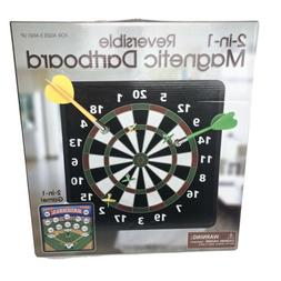 New 2-In-1 Reversable Magnetic Dartboard