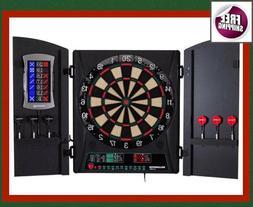 Set Electronic Premium Bristle Dartboard Cabinet 6 Steel Tip