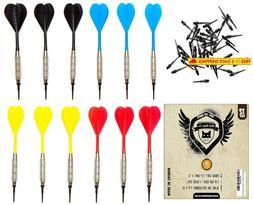 Shot Taker Co. Est. 2017 Soft Tip Darts Set | 12 Brass 16 Gr