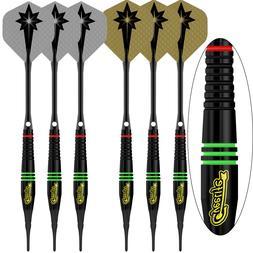 Soft tip darts Black 17g+100Tips+24Flights+12Aluminum shafts