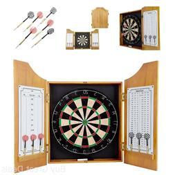 Trademark Gameroom Solid Wood Dart Cabinet Set