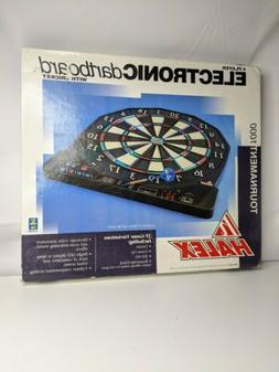 Halex Tournament 1000 4 Player Electronic Dart Board New!