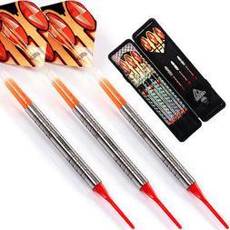 Cuesoul Tungsten Soft Tip darts with18 grams Tungsten barrel