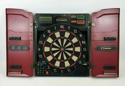 Vintage Halex 1-8 Player Electronic Dart Board Cabinet 64582