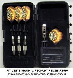 Viper Darts 24 gm Silver Thunder Steel Tip Dart Set- Flaming