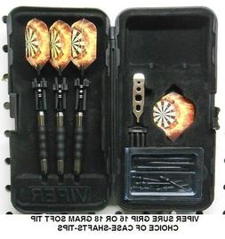 Viper Sure Grip BLACK 16 or 18 gm Soft Tip Dart Set- Flaming