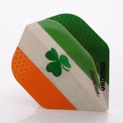WINMAU MEGA STANDARD DARTS FLIGHTS IRELAND FLAG IRISH SHAMRO